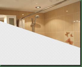 Натяжной потолок глянцевый белый в ванную 5 кв.м.