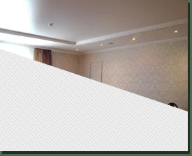 Натяжной потолок матовый белый в спальню 12 кв.м.